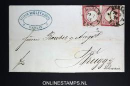 Deutsche Reich: Complete Letter Mi 19 * 2, Plattenfehler 19VII DeutscEE, 1874 Berlin -> Brugge Belgium - Deutschland