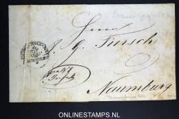 Deutschland: Complete Letter 1822 Braunschweig To Naumburg, Zoll Halberstadt - Deutschland
