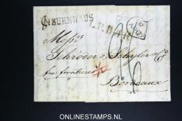 Deutschland: Complete Letter 1826 Neuenhaus To Bordeaux France - [1] Prefilatelia