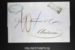 Deutschland: Complete Letter 1863 Mülheim To Arnheim Arnhem Holland - Deutschland