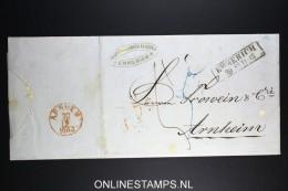 Deutschland: Complete Letter 1863 Emmerich To Arnheim Arnhem Holland - Deutschland