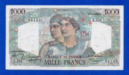 France 1000 Francs 1949 P130b Minerve Et Hercule - AVF - 1871-1952 Antichi Franchi Circolanti Nel XX Secolo