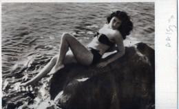 CARTOLINA POSTALE-28-8-1954-RICCIONE-SIRENA-LIRE 5-REPUBBLICA DI SAN MARINO - San Marino