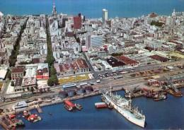 Uruguay.. Montevideo.. Montévidéo.. Belle Vue Du Port.. Bateaux.. Cargo - Uruguay