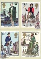GREAT BRITAIN  1979  MICHEL NO 804-807  MAXIMUMCARDS