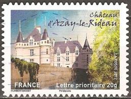 France - 2012 - Château D´Azay-le-Rideau - YT Adhésif 727 Oblitéré - Castles