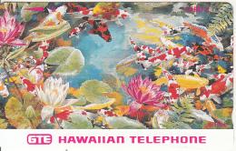 HAWAII -  Koi Fish & Flowers, Tirage 10000, Mint - Hawaï