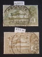 1929 Sg 222 & 222 W - 1911-35 King George V