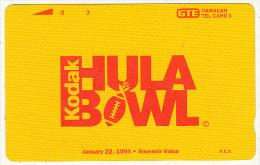 HAWAII - Kodak/Hula Bowl(PT 21, Reverse B), Tirage 6000, Mint - Hawaii