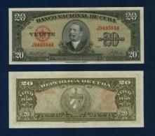 CUBA : 20 pesos 1958. pk.80 b. NEUF.SC.UNC.