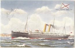 England - Raphael Tuck - Oilette - Danube. Paquete. Barco. Navio. Ship. Steamer. Packet-Boat. Paquebot. Bateau. - Dampfer