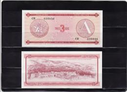 CUBA : 3 pesos 1985, FOREING EXCHANGE CERTIFICATES. pk. FX 2.  SC.NEUF.UNC.