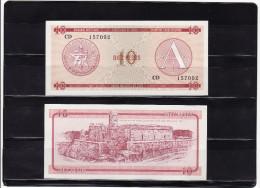 CUBA : 10 pesos 1985, FOREING EXCHANGE CERTIFICATES. pk. FX 4.  SC.NEUF.UNC.