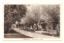 Cp, 18, Vierzon, Jardin Public De L´Abbaye, Voyagée 1935 - Vierzon