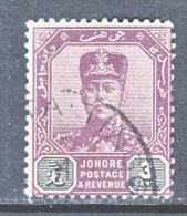 Johore 78    (o)  Multi Rosette Wmk. 47   1910-18 Issue - Johore