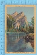 US California CA ( The Three Brothers, Yosomite Valley,  CPSM Linen Postcard ) Recto/Verso - Yosemite