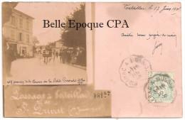 24 - Passage à VERTEILLAC De St-PRIVAT  - N. 7, Premier De La Course De La PETITE GIRONDE / 28 Mai 1905 ++++ CARTE PHOTO - Otros Municipios