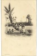 Carte Postale Ancienne Alg�rie - Biskra. Groupe d'enfants
