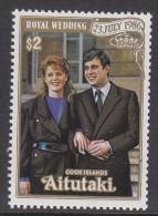 AITUTAKI, 1986 ROYAL WEDDING 1 MNH - Aitutaki