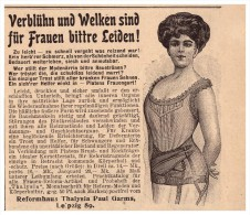 Original Werbung - 1907 - Reformhaus Thalysia , Paul Garms In Leipzig , Mode , Korsett , Corset !!! - Leibwäsche