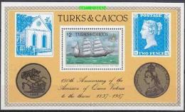 Turks & Caicos 1987 Accession Of Queen Victoria M/s ** Mnh (19228) - Turks- En Caicoseilanden