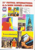 Bande Dessinée / Comics  *** 21ème Festival De BD CONTERN ** Timbre Personnalisé LUXEMBOURG Sur Carte Maximum 2014 - Fumetti