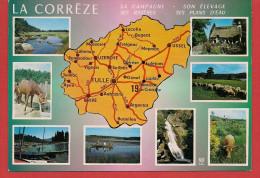 Carte Contour Géographique Du Département De CORREZE - France