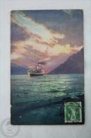 Old Boat Postcard - Abend Auf Dem Brienzersee - Switzerland - Posted 1911 - Bateaux