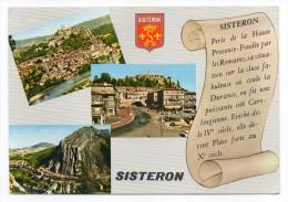 SISTERON --- Multivues ,blason ,cpsm 15 X 10  N°1517  éd MAR - Sisteron