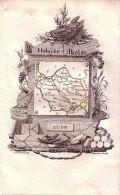 1821 - Gravure Sur Cuivre - Carte Du Département De L'Aube - FRANCO DE PORT - Prints & Engravings