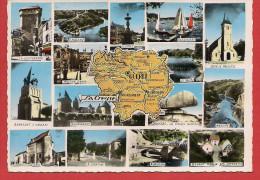 Carte Contour Géographique Du Département De La CREUSE - Unclassified