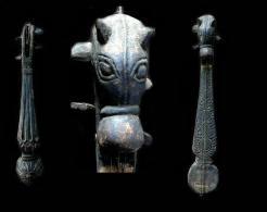 Ancienne Danga à Tête De Cheval Guitare Mandoline / Old Danga Horse-shaped Musical Instrument (Tibetan Border) - Instruments De Musique