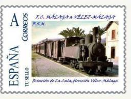 SPAIN/F.C. MALAGA - VÉLEZ-MALAGA/Estacion De La Cala,direccion Vélez-Malaga/RAILWAYS/TRA INS/BAHN/TU SELLO - Trains