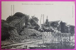 Cpa Déraillement Train En Gare De Bonsecours Nancy 1907 Carte Postale 54 Lorraine - Féroé (Iles)