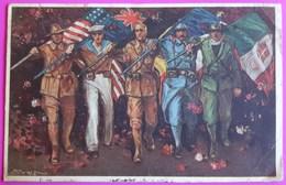 Cpa I Trionfatori Illustrateur Mauzan 1922 Carte Postale Patriotique - Patriotic