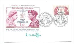 FDC.. ENVELOPPE PREMIER JOUR 1973.. Pierre BOURGOIN- Philippe KIEFFER ( AUTOGRAPHE) - FDC