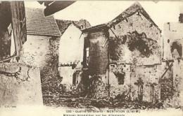 Monthyon Maisons Incendiees Par Les Allemands - Guerra 1914-18