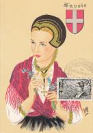 Carte Maximum FRANCE N°Yvert 1246 (SAVOIE) Obl Sp Annecy Rattachement 12.6.60 (Ed BD 15.30J) - 1960-69