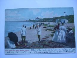 BAHAMAS 1908 POSTCARD NORTH BEACH HOG ISLAND EARLY COLOUR - Bahamas