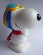 SNOOPY AVIATEUR RARE FIGURINE Tirelire EN CERAMIQUE - Snoopy