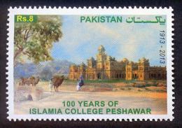 PAKISTAN 2013 MNH 100 YEARS OF ISLAMIA COLLEGE PESHAWAR ARCHITECTURE CAMEL ANIMALS TREE BUILDING - Pakistan