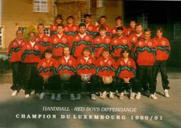 LUXEMBOURG  -DIFFERDANGE  HANDBALL RED BOYS - Champion Du Luxembourg 1990/1991 - Differdange