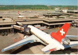 Flughafen Zürich Mit Swissair Flugzeug, Foto: Amt Für Luftverkehr, Zürich, Nicht Gelaufen - 1946-....: Moderne