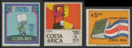 "Costa Rica 1976 Mi 938 /40 Aero ** Costa Rican Literature / Nationaler Buchverlag ""Editorial Costa Rica"" - Costa Rica"