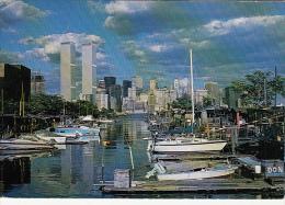 11809- NEW YORK CITY- WORLD TRADE CENTER, SKYLINE, MARINA, SHIPS - World Trade Center