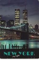 11823- NEW YORK CITY- WORLD TRADE CENTER BY NIGHT, BRIDGE - World Trade Center