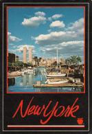 11830- NEW YORK CITY- WORLD TRADE CENTER, SKYLINE, MARINA, SHIP - World Trade Center