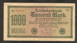 Alemania 1000 Mark 1922 Used - 1000 Mark