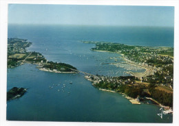 LA TRINITE-SUR-MER-1980-Vue Aérienne D'ensemble Sur Le Port Et La Pointe De Kerbihan- Cpm N°1203  éd Jos -- - La Trinite Sur Mer