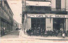 FRANCE  C.P.A  81 TARN   MAZAMET  Terrasse Du Cafe Du Grand Rond  (en  L´état) - Mazamet